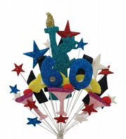 New York 60th birthday cake topper decoration - free postage